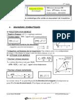 Cours - Physique - Cinématique(1)Etude cinématique d'un solide en mouvement de translation - 3ème Sciences exp (2015-2016) Mr Kacem Houcine