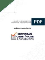 GUÍA METODOLÓGICA EVALUACIÓN Y VALIDACIÓN DE REVISTAS CIENTÍFICAS Y ACADÉMICAS scopus 2013