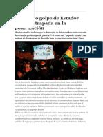 Fraude o golpe de Estado Bolivia atrapada en la polarización