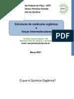 Aula 1 Organica I - Química 2020-2