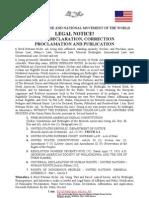 E. R.  Ali Name Declaration Correction and Publication