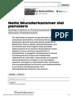 BerselliSilvia_Nella Wunderkammer del pensiero Intervista a Francesca Borea e Giulia Pederzini _ Espazium