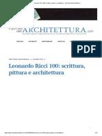 BerselliSilvia_Leonardo Ricci 100_ scrittura, pittura e architettura - Giornale dell'Architettura