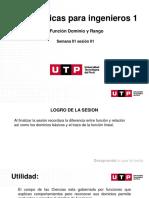 S01.s1- Funcion, Dominio, Rango. Funcion Lineal