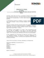 16-04-21 Confirma Secretaría de Salud 8 decesos y 109 nuevos casos por Covid-19 en Sonora