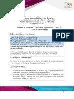 Guia de actividades y Rúbrica de evaluación- Tarea 5 - Texto argumentativo