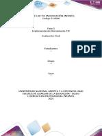 Plantilla de Trabajo - Momento Final - Fase 5 - Implementación Herramienta TIC