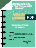 Análisis literario vanguardia