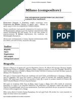 Francesco da Milano (compositore) - Wikipedia