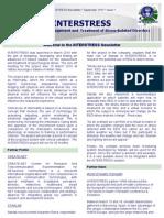 Inter Stress Newsletter Issue 1-1