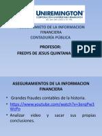 Presentacion Aseguramiento de La Informacion Financiera Contaduría Pública Facultad de Ciencias