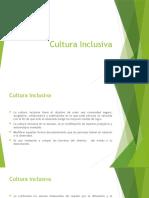 Cultura Inclusiva Clase 30 de Agosto.