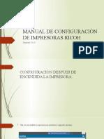 MANUAL DE CONFIGURACIÓN DE IMPRESORAS RICOH