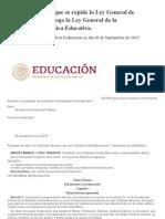 DECRETO por el que se expide la Ley General de Educación y se abroga la Ley General de la Infraestructura Física Educativa.