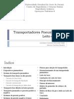 Transportadores Pneumáticos e Leito de Jorro