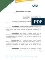 Resolução Sesc 1473 2021 - Administração Compartilhada DF - Prorrogação de Prazo
