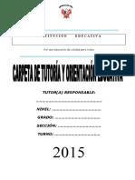 CARPETA DE TUTORIA 2015