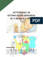 ACTIVIDADES DE ESTIMULACIÓN SENSORIAL