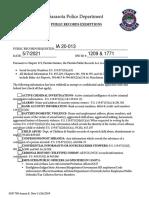 Sarasota PD internal investigation
