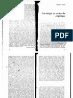 Adorno Sociologie Sciences Empiriques