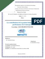 La Contribution de La Gestion Budgétaire à La Performance de l'Entreprise (1)