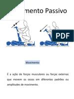 5ª AULA - MOVIMENTO PASSIVO