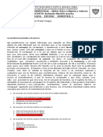 evaluacion ETICA primer semestre