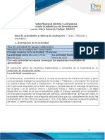 Guía de Actividades y Rúbrica de Evaluación - Unidad 1 - Tarea 1 - Medición y Cinemática