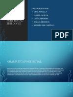 GRAMÁTICA PORT ROYAL