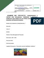 UESME PROYECTOS ESCOLARES  2020 2021 MODELO DE INTERDISCIPLINARIEDAD