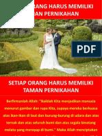 08. Setiap Orang Harus Memiliki Taman Pernikahan