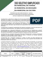 Edital - Abertura Processo Seletivo - Monitor Patrimonial