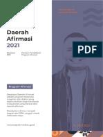 Booklet Beasiswa Daerah Afirmasi Tahun 2021