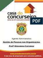 Apostila PF ADM 2016 - Gestão de Pessoas nas Organizações - Giovana Carranza