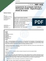 NBR 14628 - 2000 - Equipamento de Proteção Individual - Trava Queda Retrátil - Especificação e Mé