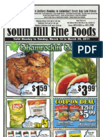 South Hills Fine Foods Flyer for March 14-20
