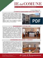 Notizie Dal Comune di Borgomanero del 14-05-2021