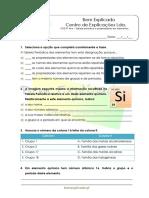 C.2 - Tabela periódica e propriedades dos elementos  - Teste Disgnóstico (1)