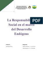 La Responsabilidad Social en el marco del Desarrollo Endógeno
