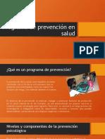 Esquema Programa de prevención en salud