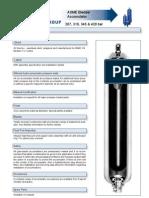 ASME Bladder Accumulator Datasheet