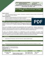 INFORME DEL TALLER DE CAPACITACIÓN LIMPIEZA Y DESINFECCION HOSPITALARIA