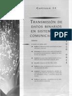 CAP 11 TRANSMISION DE DATOS BINARIOS EN SISTEMAS DE COMUNICACIONES