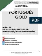 PORTUGUÊS - RESUMO AULA 31