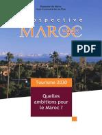 Prospective Maroc 2030_ Tourisme 2030, quelles ambitions pour le Maroc_