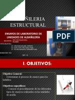 ENSAYOS DE LABORATORIO DE DE ALBAÑILERÍA