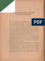 Frithjof Schuon - Qu'Est-ce Que l'Élite Intellectuelle