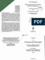 Schopenhauer, Philosophische Vorlesungen - vol.01
