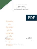 Proyecto 1. Sistema de Gestión de la Seguridad y la Salud en el Trabajo.