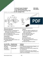 datasheet fotodiodo
